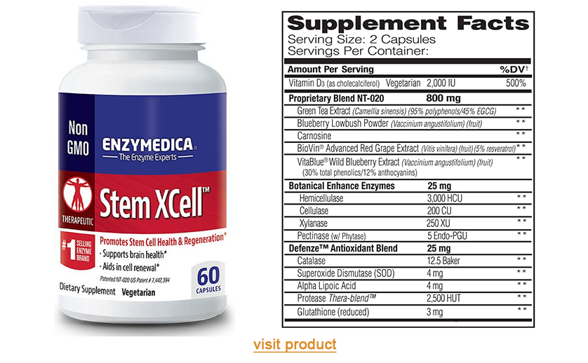 a1supplements enzymedica stem xcell