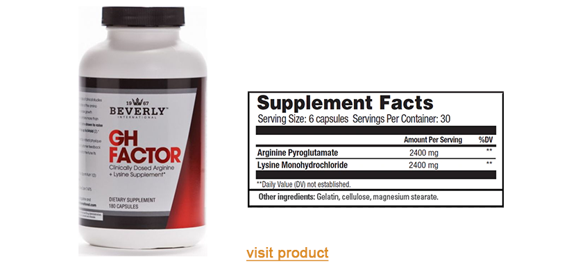 a1supplements beverly gh factor