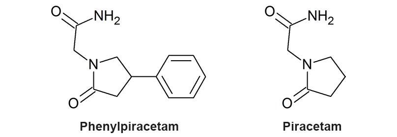 phenylpiracetam molecule structure